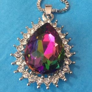 Mystic topaz necklace 🥰